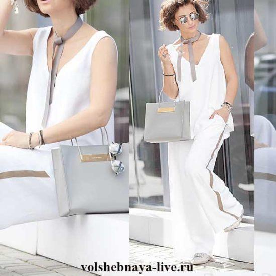 Белоснежный летний образ в брюках с лампасами Елена Галант