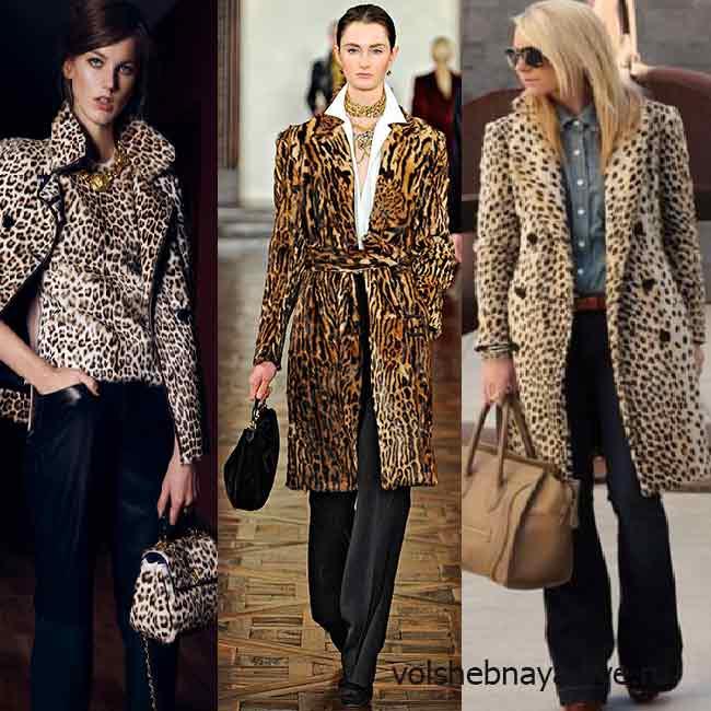 Модные классические леопардовые пальто