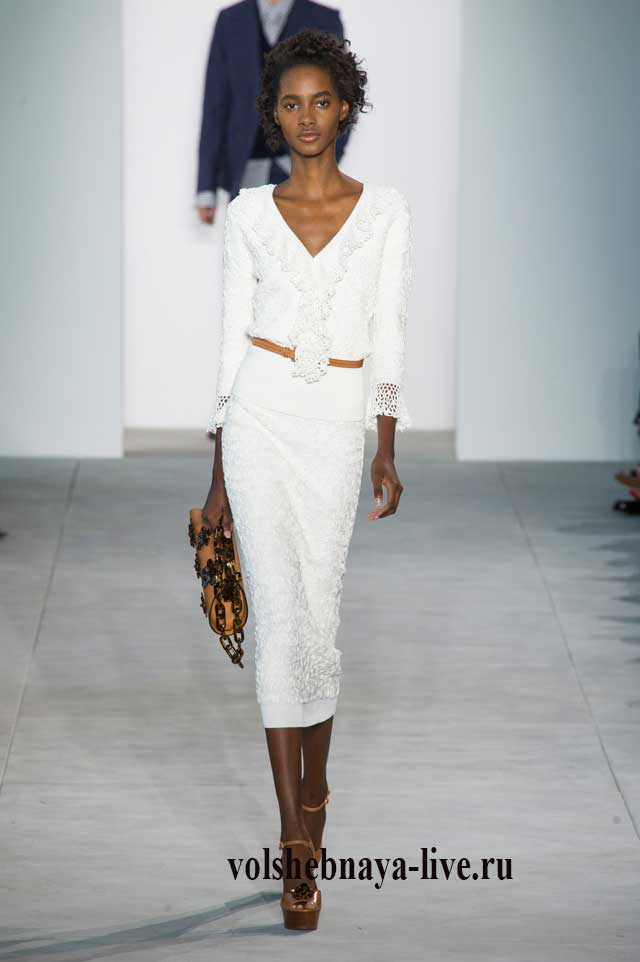 Белое платье карандаш с длинным рукавом Kors