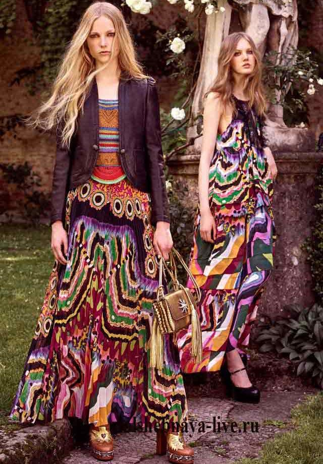Кожаная короткая куртка сливового цвета пол платье в пол Cavalli
