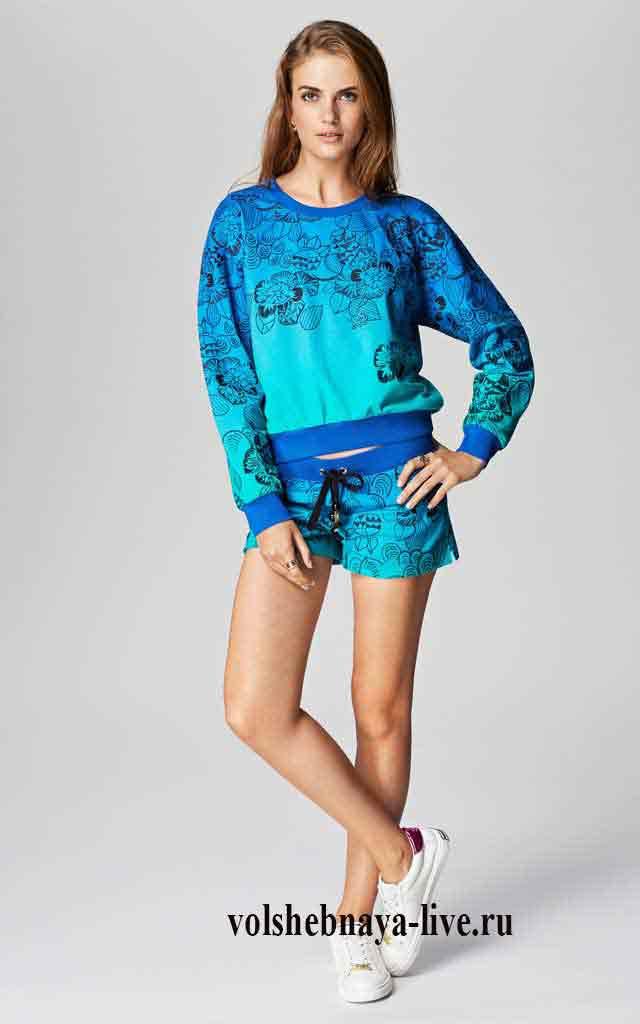 juicy спортивный костюм с градиентом сине голубого цвета