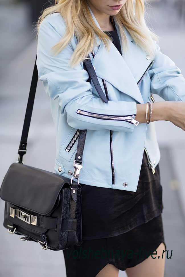 Куртка голубого цвета женская образы