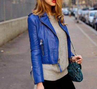Синяя косуха женская с чем носить