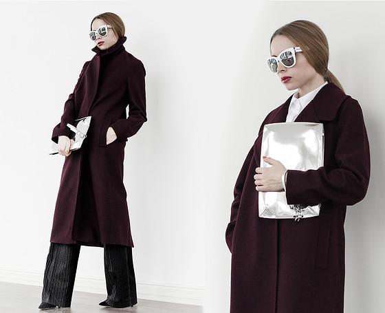 Пальто марсала Таня Рудакова