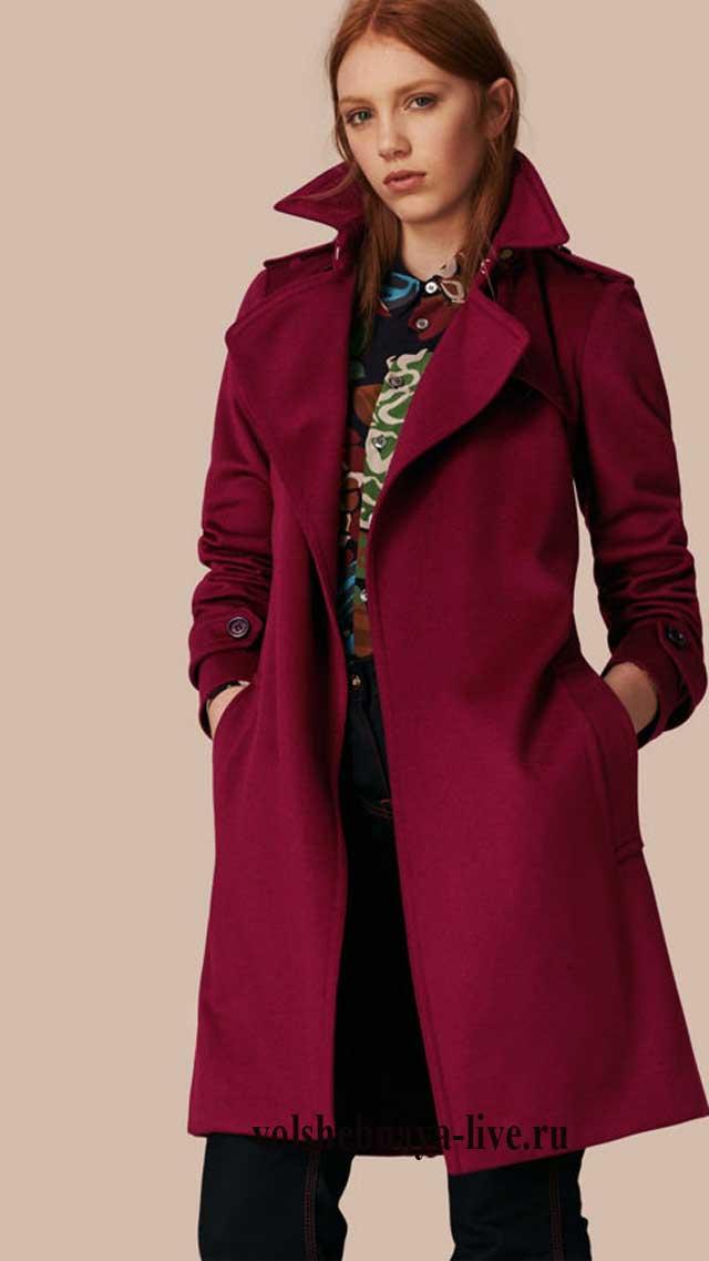 Стильное пальто тренчкот