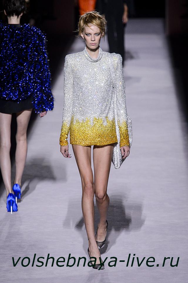 Tom Ford 2018 блестящее платье