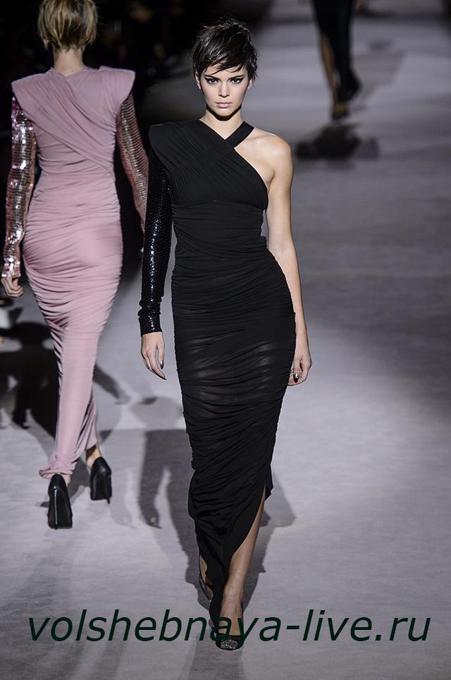Tom Ford 2018 платье в пол черное