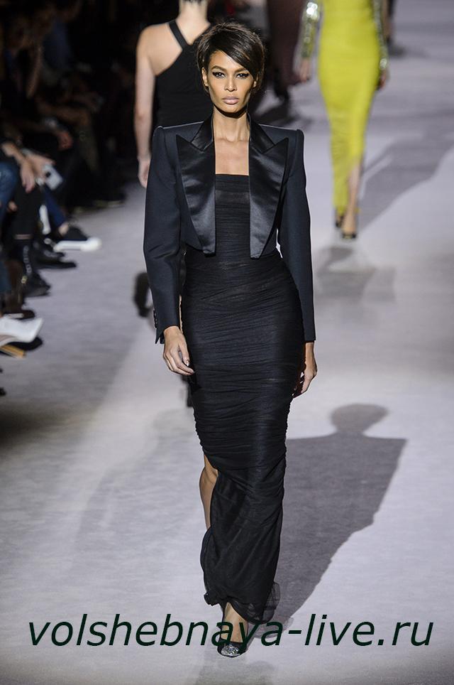 Tom Ford 2018 черное платье