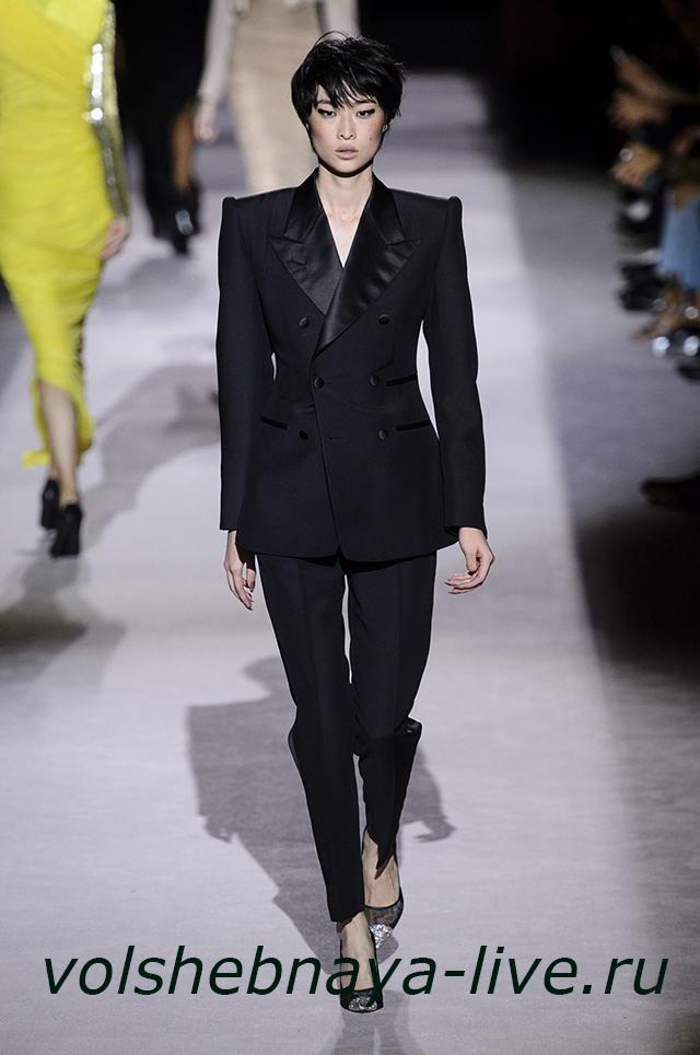 Том Форд 2018 брючный черный костюм