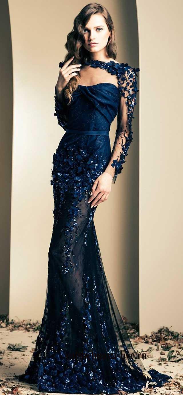 Вечернее платье цвета Нэви