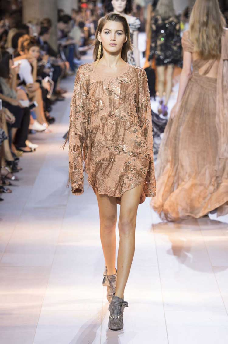 Roberto Cavalli блестящее бежевое платье на запах