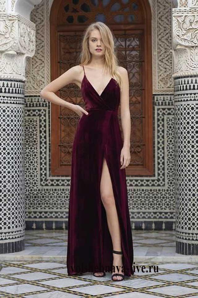 b04b301ae312b11 Бархатное платье с чем носить модный тренд нового сезона. Фото ...