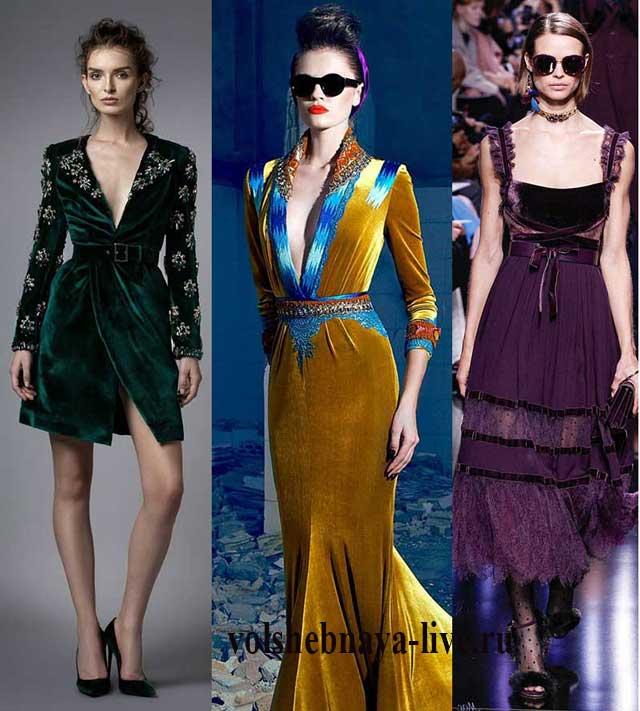 8f3747dcd58b Бархатное платье с чем носить модный тренд нового сезона. Фото ...