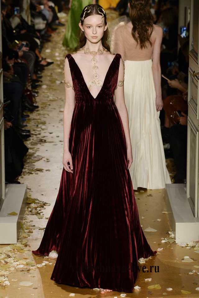 Бордо платье из бархата
