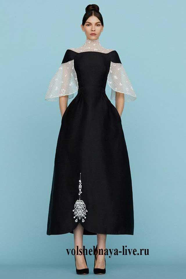 Черное платье Ульяны Сергиенко