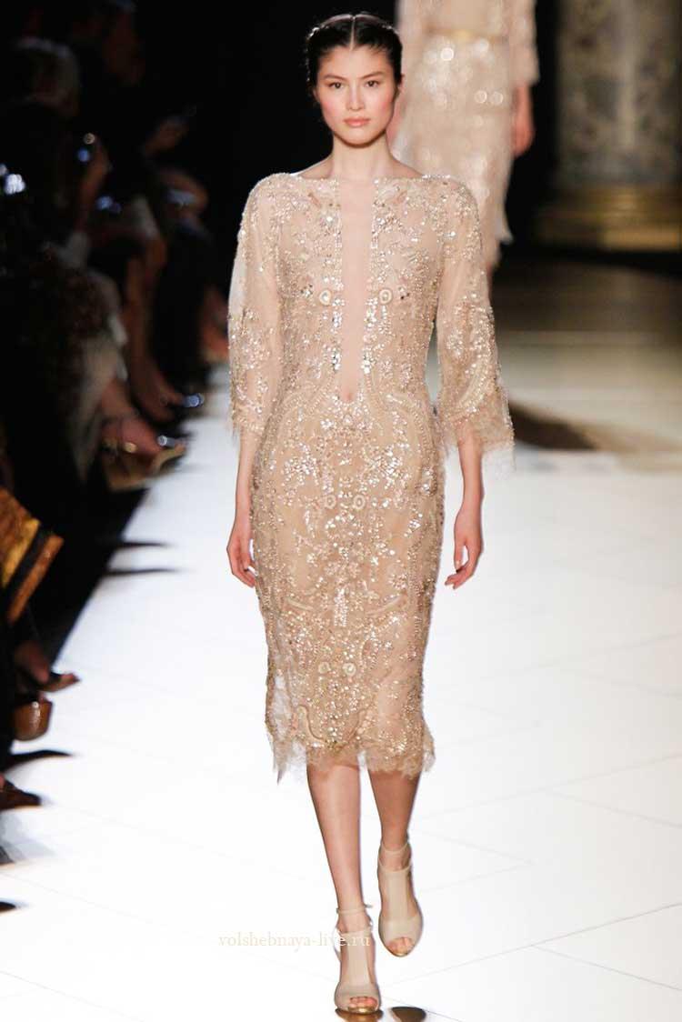 Красивое гламурное платье