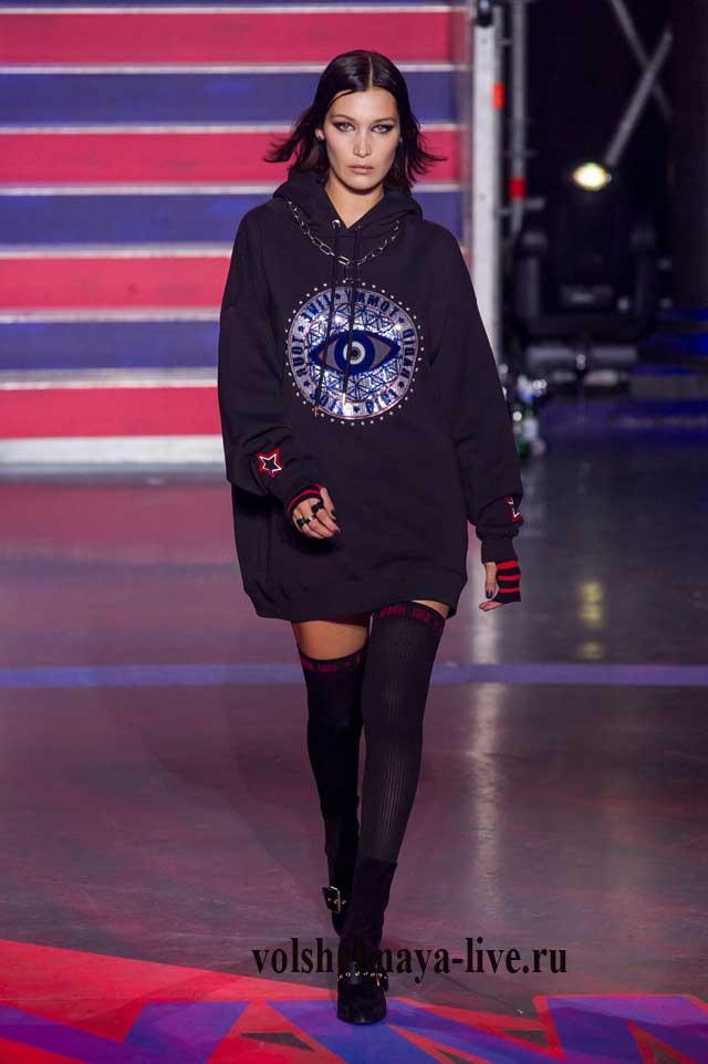 Платье свитер показ моды