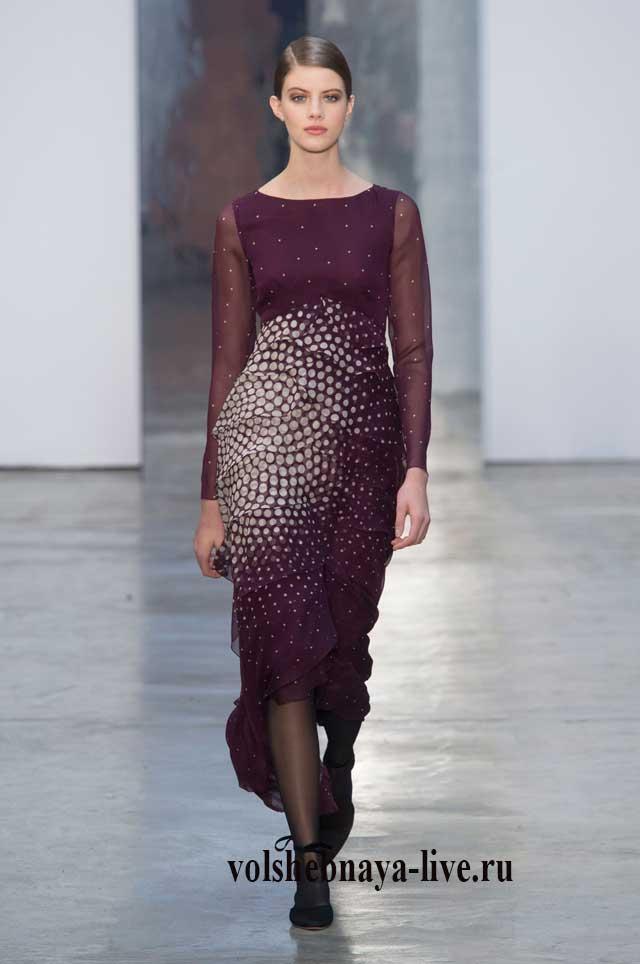 Дизайнерское платье марсала