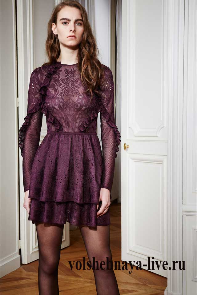 Платье цвета марсала Рани Захем