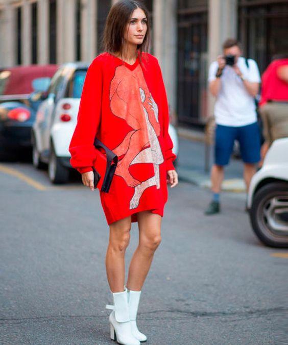 Платье худи в стиле оверсайз