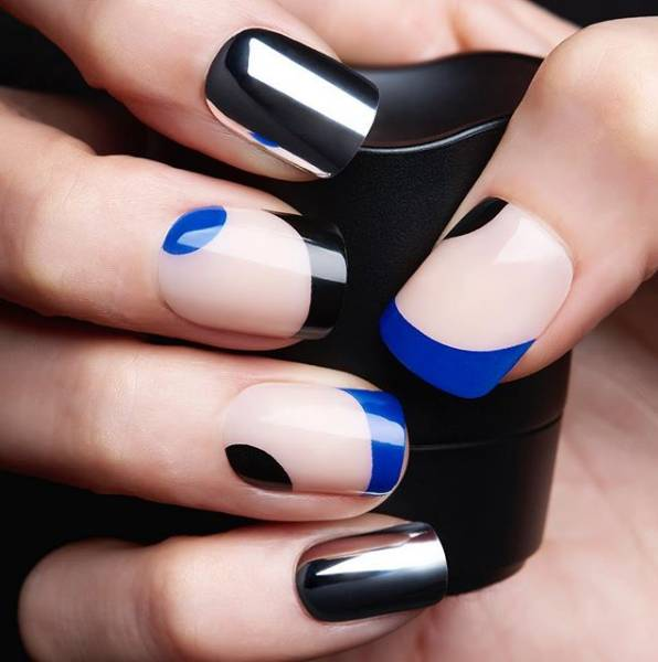 Металлические оттенки ногтей