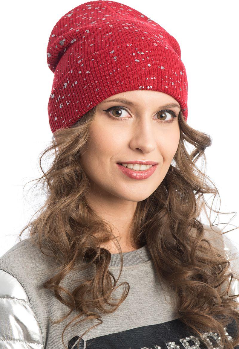 женские шапки из акрила
