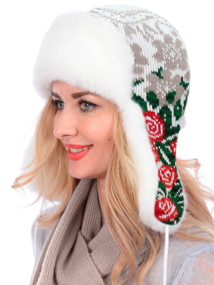 шапки-ушанки, украшенные норвежским орнаментом