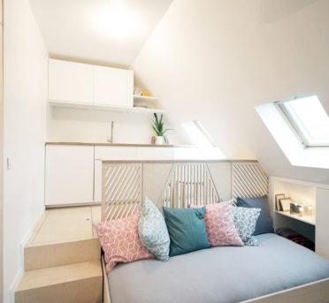 экономний дизайн маленькой квартиры студии