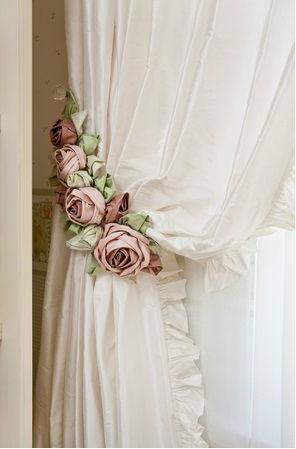 подхваты цветы для штор своими руками