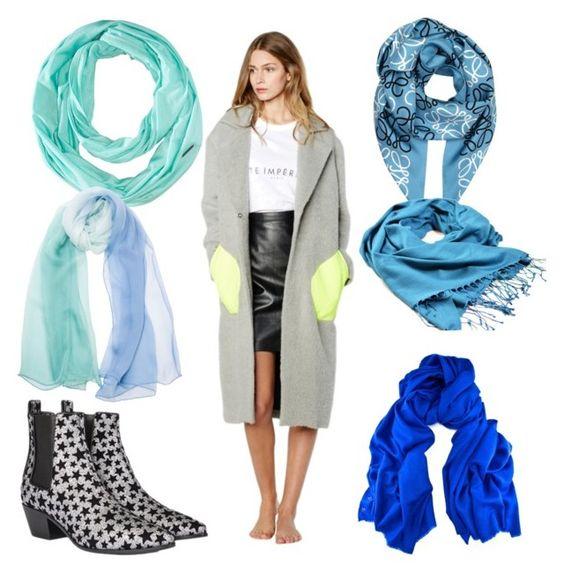 Какой цвет шарфа к серому пальто фото