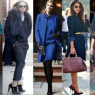 С чем носить синее пальто разных оттенков. Образы,look- сеты и фото блогеров.