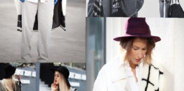стильные образы пальто и шляпы