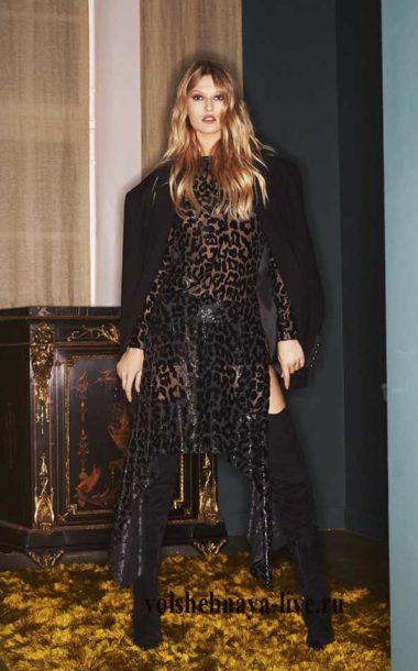 ready to wear зима 2017, черное платье с лео принтом от Александра Вотье