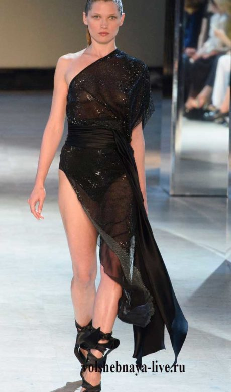 Асимметричное платье на одно плечо, Александр Вотье.
