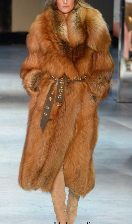 Alexandre Vauthier Haute Couture. Шуба из рыжей лисы.