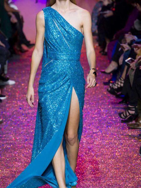 Вечернее платье на одно плечо 2017 Elie Saab