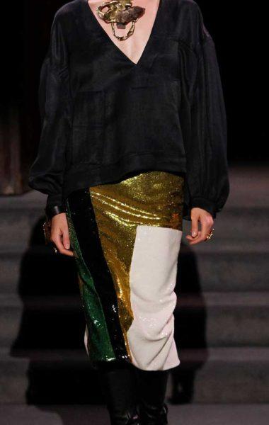 Tom Ford черный свободный джемпер и юбка в пайетках