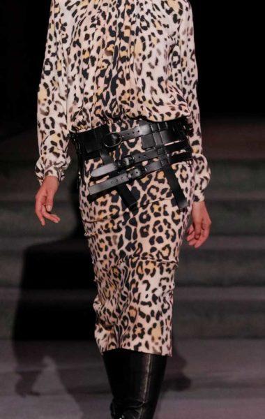 Леопардовый костюм То Форд, осень-зима 2017