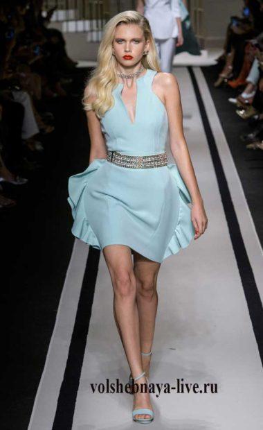 Elisabetta Franchi образ из коллекции 2017-ментоловое платье