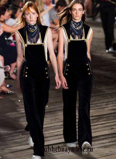 Бархатный комбинезон Hilfiger fashion 2016