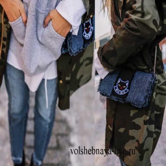 что одеть с курткой паркой в цвете камуфляж