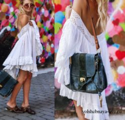 Белое платье разлетайка из батиста