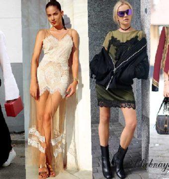 С чем носить платье комбинацию из бархата, шелка и кружева? Создаем образы в разных стилях, которые подойдут всем!