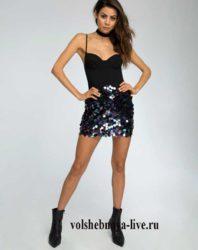 Мини юбки с пайетками для вечеринки в клубе
