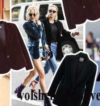 Бархатный пиджак, с чем можно носить велюровые жакеты