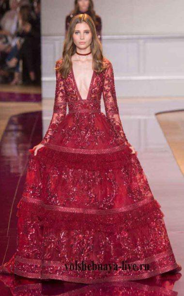 Бургунди, вечернее платье в пол Murad
