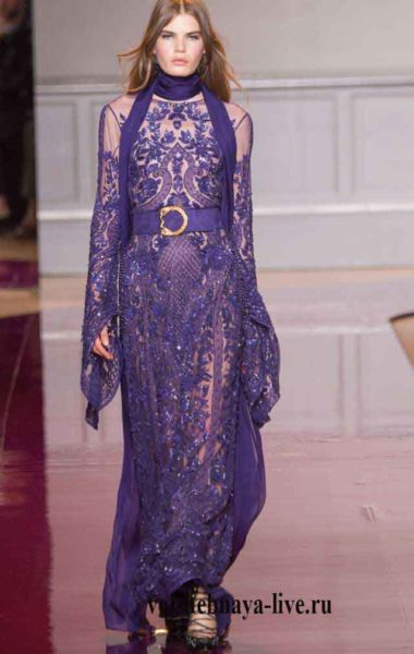 Фиолетовое, вечернее платье в пол Murad