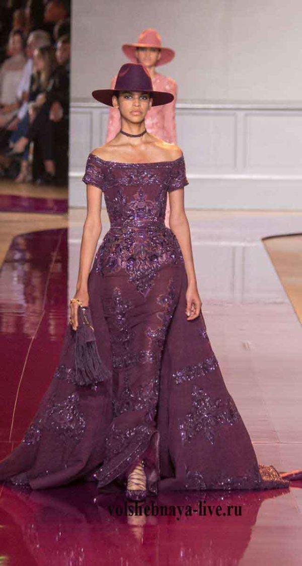 Красивое платье цвета марсала от Зухаир Мурад