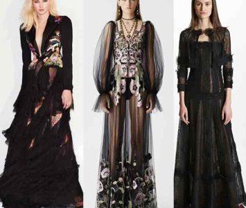 Черное кружевное платье в пол- пожалейте мужские нервы!