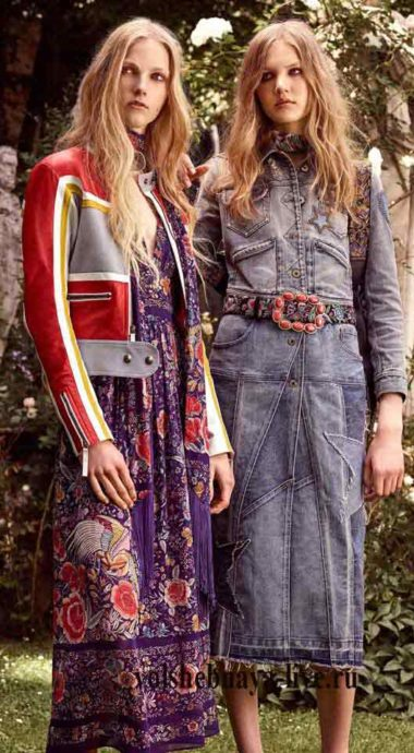 Джинсовые и кожаные одежды с вишивкой